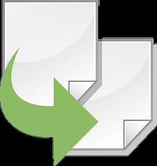 Clone, Duplicate, Arrow, Documents, Sync, Green