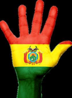 Bolivia, Flag, Hand, National, Fingers, Patriotic
