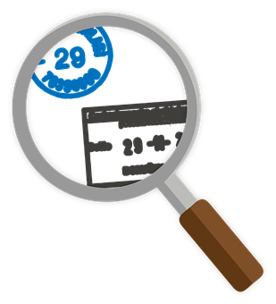 Magnifier, Icons, Stamps