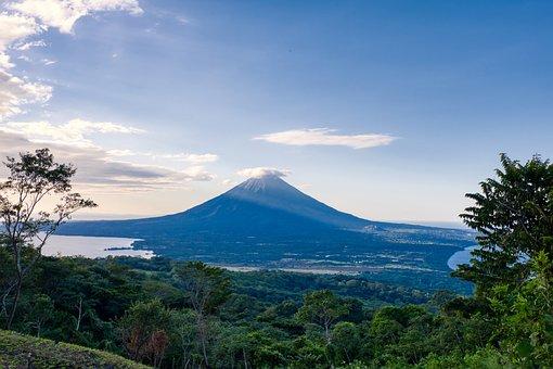 Volcano, Landscape, Mountains, Mountain