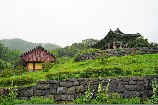 Korea, Temple, Section, Landscape, Republic Of Korea