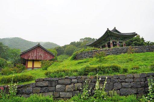 Korea, Temple, Section, Landscape, Republic Of Korea