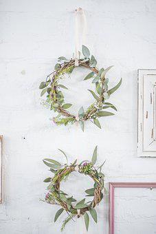 Wreath, Wedding, Round, Spring, Flower