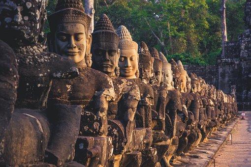 Cambodia, Angkor Wat, South Gate, Ruin, Temple, Angkor