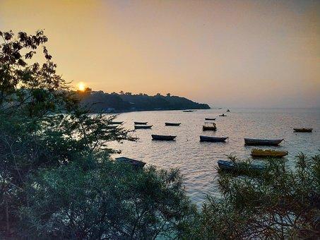 Water, Sun, Sunrise, Sunset, Sea, Beach