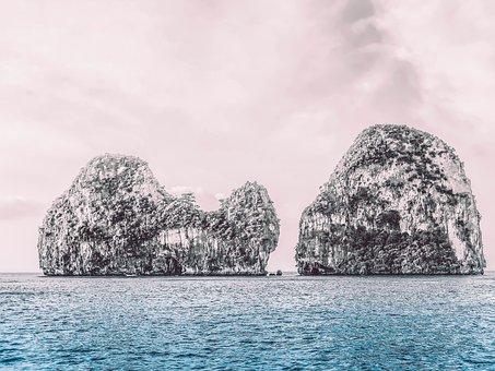 Rocks, Ocean, Water, Beach, Nature