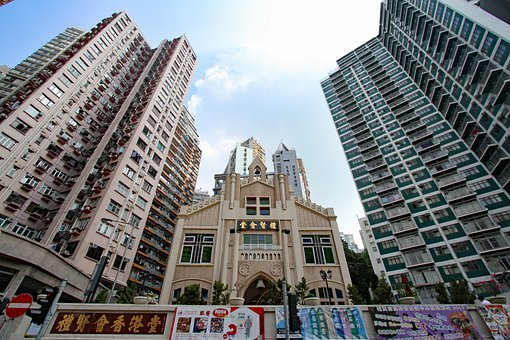 Hongkong, Church, Building, Cathedral, Architecture