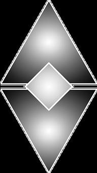 Abstract, Geometric, Gray, Black, Triangles, Diamond