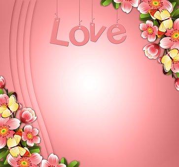 Background, Romantic, Pink, Love