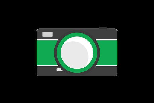 Camera, Icon, Flat, Design, Symbol, Photo, Digital