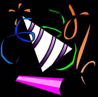 Celebration, Gala, Hat, Horn, Party