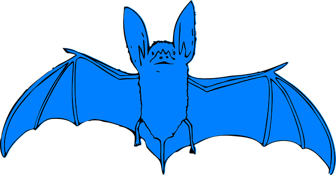Bat, Blue, Animal, Halloween, Night, Spooky, Mammal