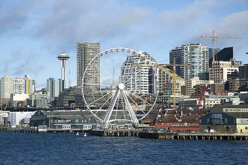 Seattle, Washington, Waterfront, Urban, City, Skyline