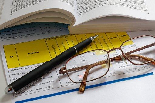 Glasses, Pen, Books, Paper, Document, Office, Education