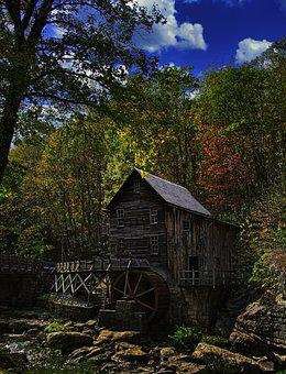 Fall, Colors, Grist Mill, Babcock, State