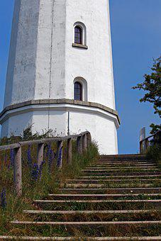 Lighthouse, Stairs, Architecture