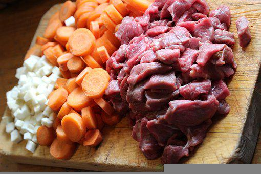 Meat, Beef, Carrots, Goulash, Soup, Eat