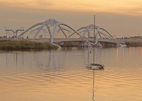 Bridge, Amsterdam, Netherlands, Sunrise