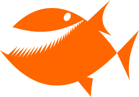 Piranha, Fish, Silhouette, Hungry, Happy, Teeth, Biting