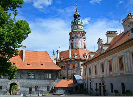český Krumlov, Castle, Krumlov, Architecture, Tourism