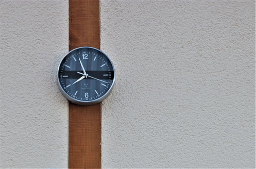 Wall Clocks In Wrist Watch Design, Wooden Beams