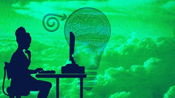 Brain, Mind, Light Bulb, Workstation