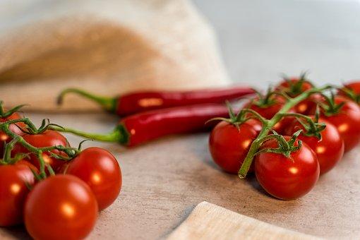 Tomatoes, Chili, Towel, Eat, Food, Fresh, Kitchen