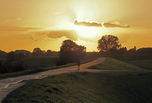 Landscape, Sunset, Polder, Netherlands