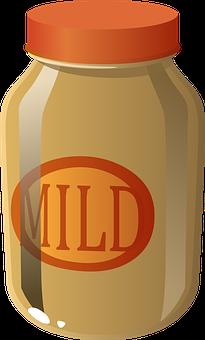 Jar, Sauce, Mild, Food, Condiment, Container, Brown