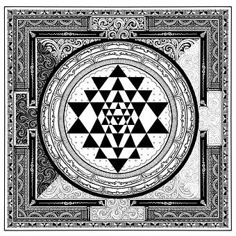 Sri Yantra, Symbol, Meditation, Gray Meditation
