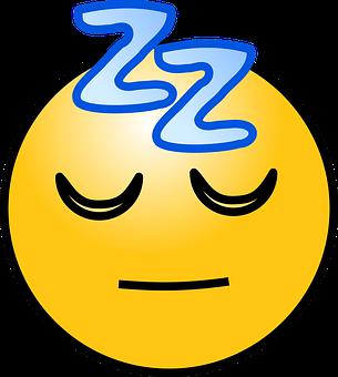 Sleep, Sleeping, Emoticons, Face, Z's, Yellow, Resting