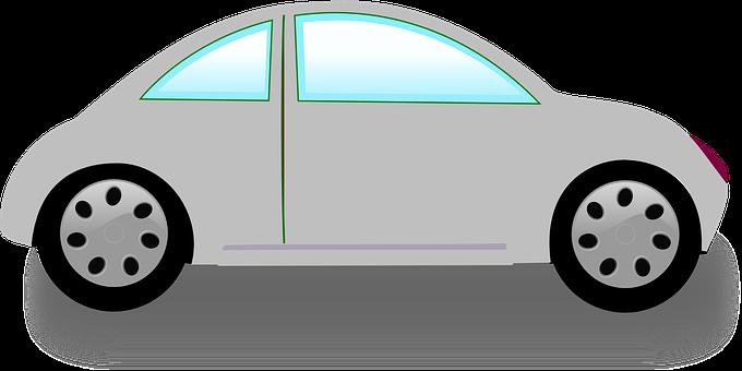 Car, Small, One Door, Auto, Gray