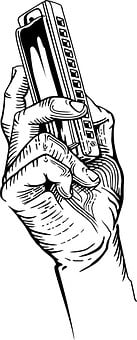 Mouth, Harmonica, Hand, Musical, Instrument, Blues
