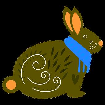 Animals, Rabbit, Colors, Cute, Nice, Draw, Drawing