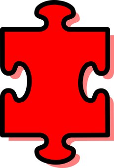 Puzzle, Piece, Jigsaw, Red, Shadow, Single, One, Fit