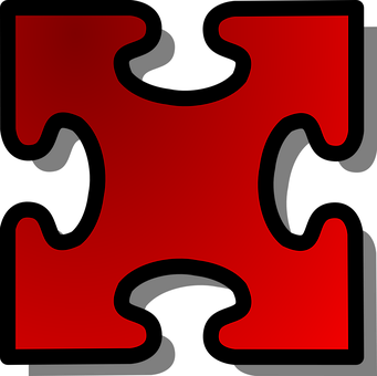 Jigsaw, Puzzle, Piece, Red, Single, Challenge, Solution