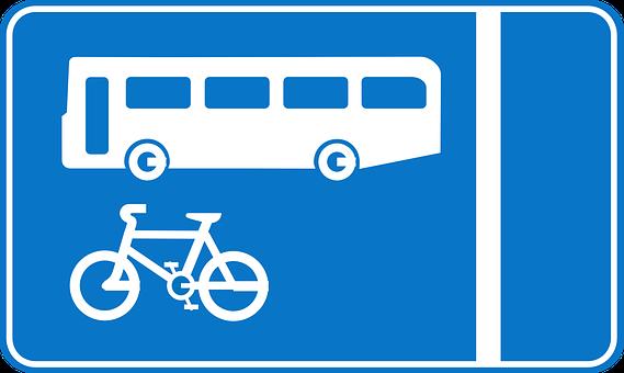 Signs, Bus, Lane, Bicycle Track, Road