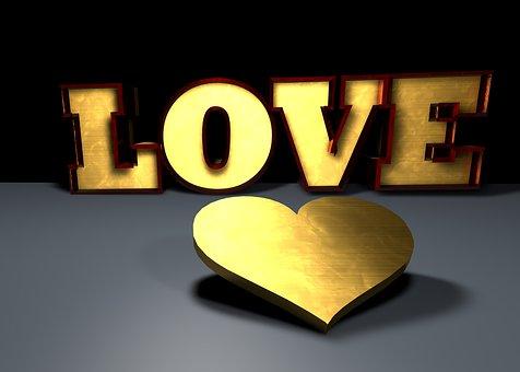 Heart, Gold, Love, Shiny, Golden Heart