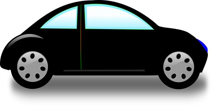 Car, Small, One Door, Auto, Black