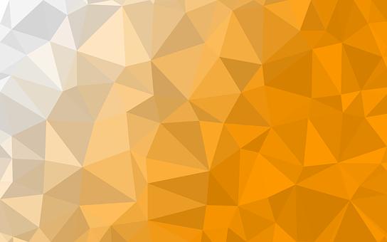 Texture, White, Yellow, Orange, Gradient, Polygon