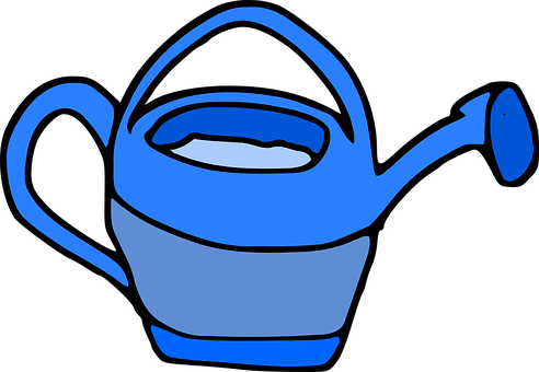 Watering Can, Blue, Watering-can, Watering Pot