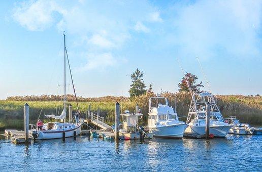 Seascape, Landscape, Boats, Sailboats