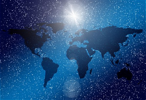 Continents, Star, Classification, Night, Earth, World