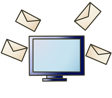 E-mail, Send, Computer, Social, Online, Contact, Share