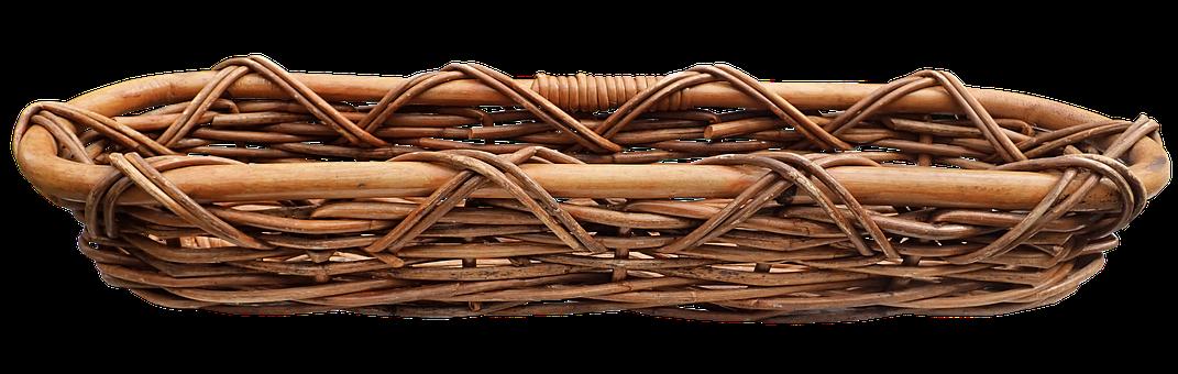 Basket, Cane, Woven, Bread Basket, Handmade, Craft