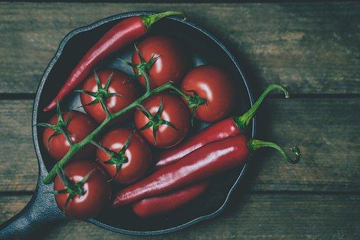 Tomatoes, Chili, Eat, Food, Fresh
