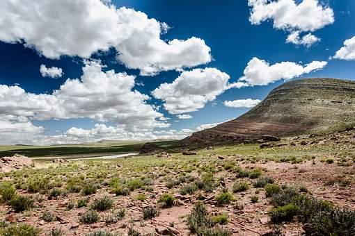 Desert, Mountain, Field, Landscape, Nature, Mountains