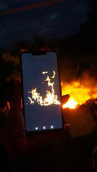 Phone, Photo, Fire, Smartphone, Photos