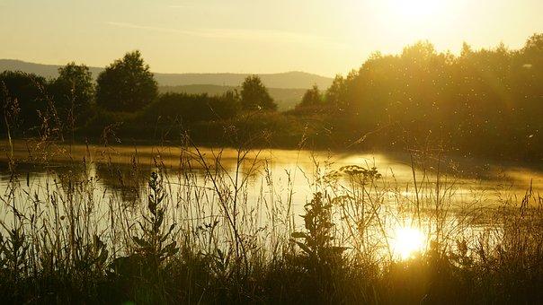 Nature, Russia, Sunset, Landscape