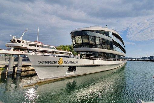 Ship, Lake Constance, Vorarlberg, Bug, Lake, Motor Ship